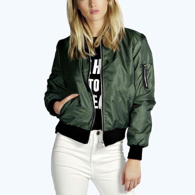 Best Selling Hin Coat Female Short Bomber Jackets For Women Zipper ...