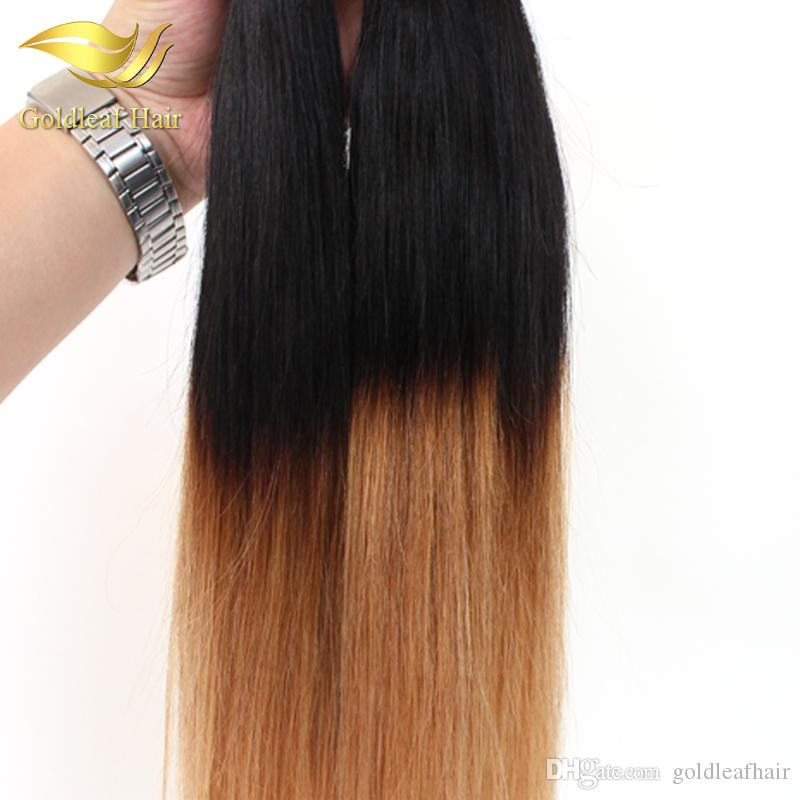 Wholesale Peruvian Malaysian Indian Two Tone Ombre Hair 10 26 Inch