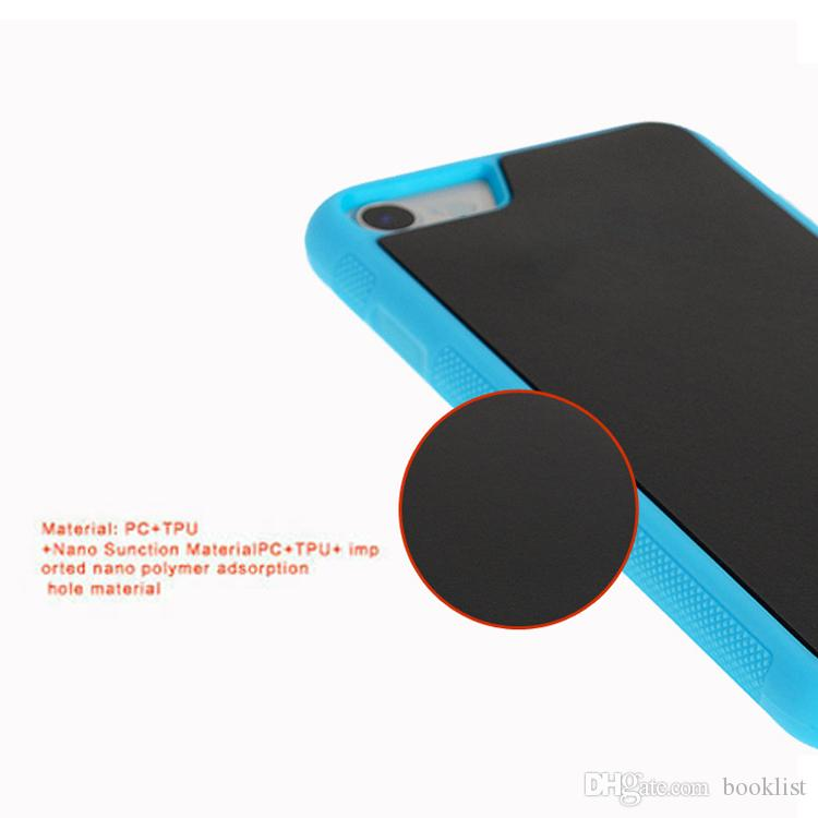 Anti Gravity Selfie Magical Nano Sticky Absorption Hybrid PC TPU Cover Case For iPhone 7 Plus 6 Plus 5s 6s Samsung S7 S6 Edge Plus Note5 New