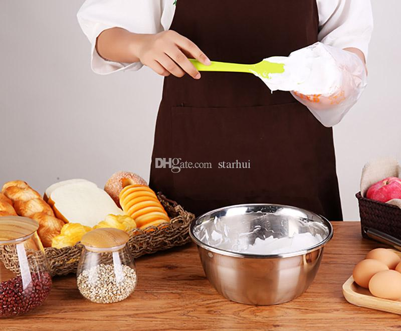 سيليكون كعكة مكشطة كعكة كريم زبدة ملعقة خلط الطبخ مكشطة فرشاة سيليكون الخبز أداة للبيع WX9-07