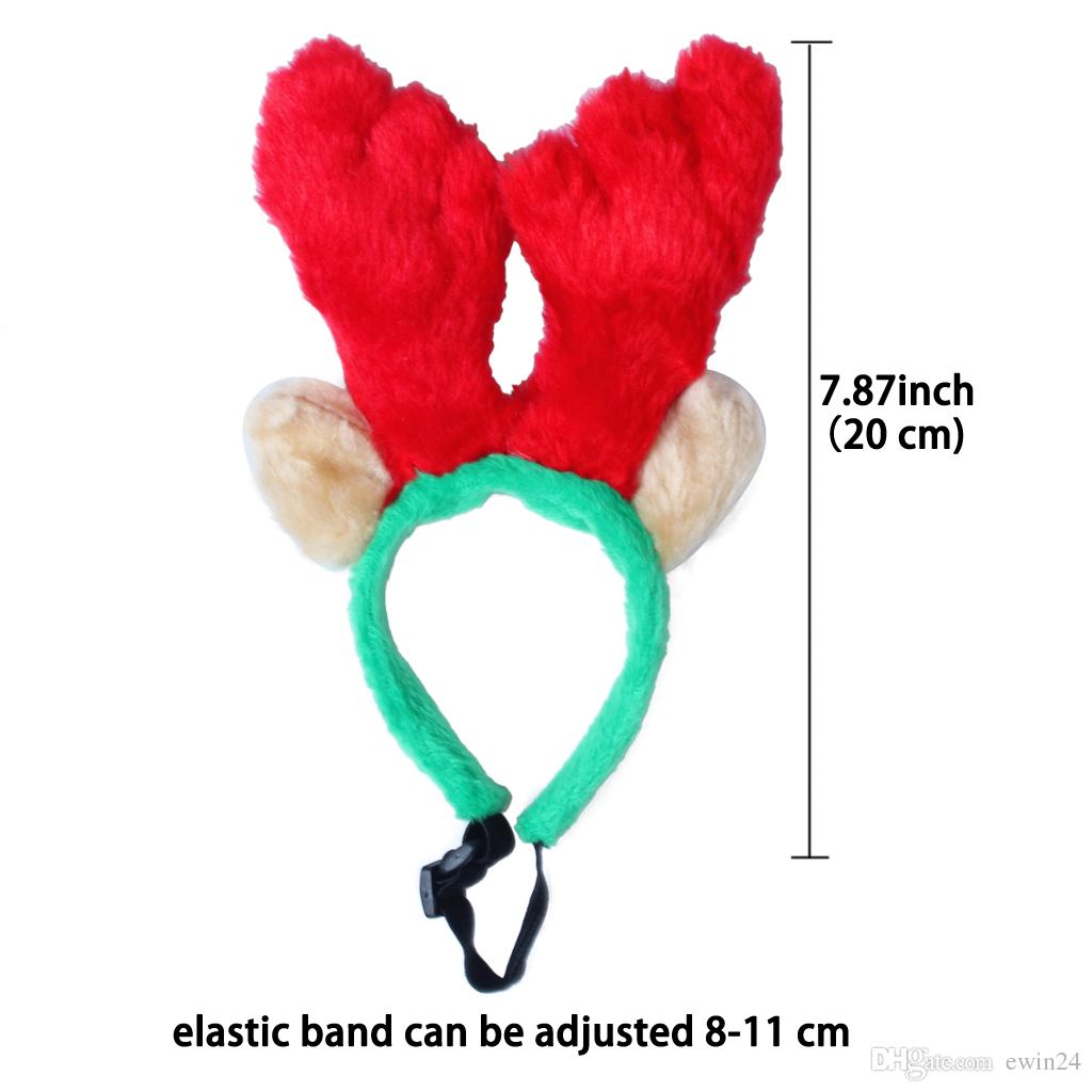 Carino Pet Renna di Natale Antlers Fascia Party Prop Ornamenti Cane Gatto Breve decorazione materiale peluche regali