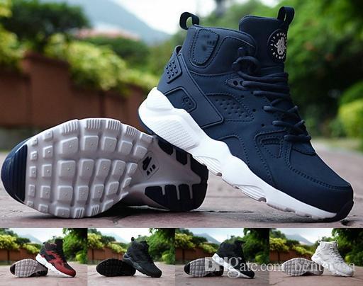 965e0ea70fa Compre 2017 Chaussures Nike Air New Huarache II Tênis Huraches Running  Trainers Para Homens Ao Ar Livre Sapatos Esportes Huaraches Tênis Tamanho  Preto EUA 7 ...