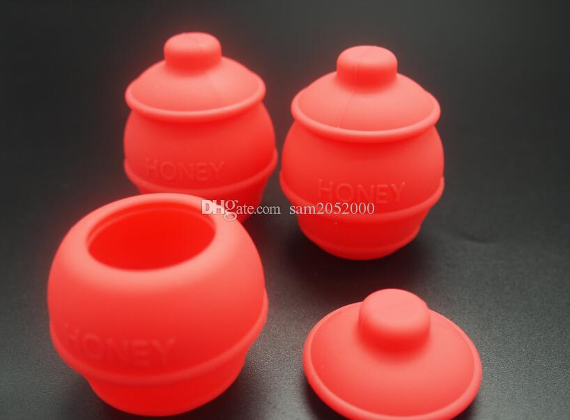 35 ML Abelha Honey Dab Caixa de Insetos De Abelha RecipienteSilicone Recipiente de Não-stick de Óleo De Silicone De Armazenamento De Cozinha Mix Caixa Decorativa