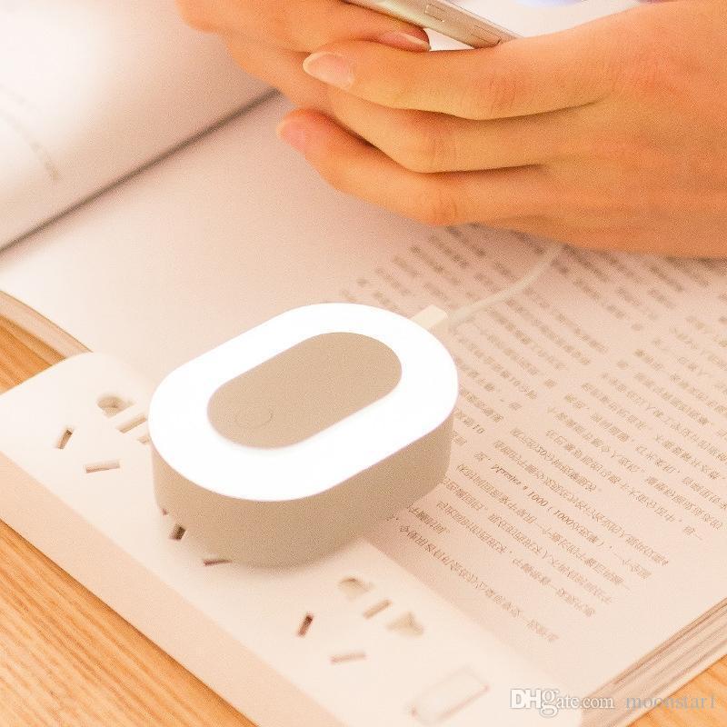 LED Night Light Lampada da parete camera da letto con doppio caricatore USB Cellulare 5V2A Caricatore da viaggio USB Spina adattatore da parete portatile