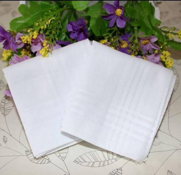 Party 34cm 100% Cotton Male Table Satin Handkerchief Towboats Square Handkerchief Whitest 34cm Men Christmas Gift