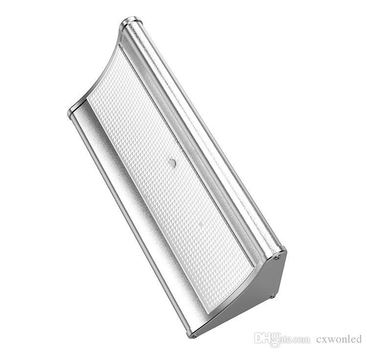 Lampe de jardin solaire extérieur capteur de mouvement de mouvement de la lumière 1100lm alliage d'aluminium pour la sécurité extérieure de jardin cour murale