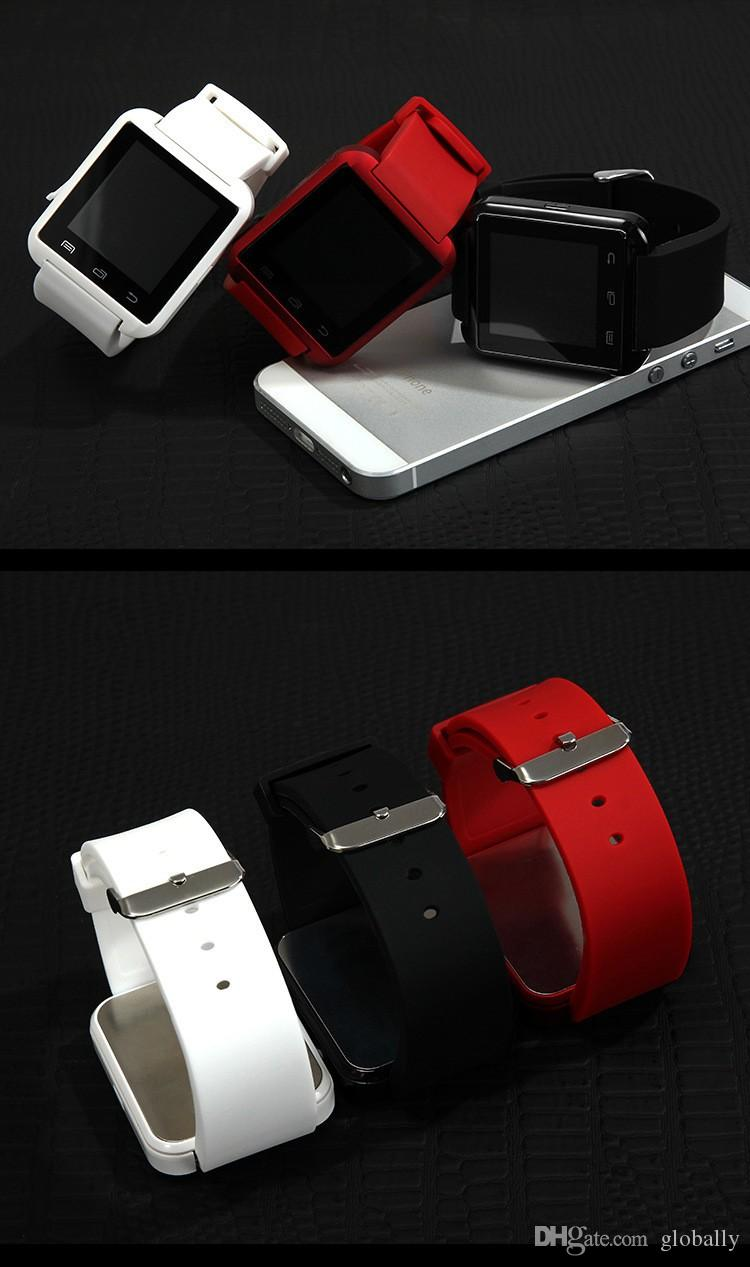 Wholesale Bluetooth U8 Smartwatch Wrist Watches With Altimeter For iPhone 7 Samsung S8 Android Phone Smart Watch With Retail Package