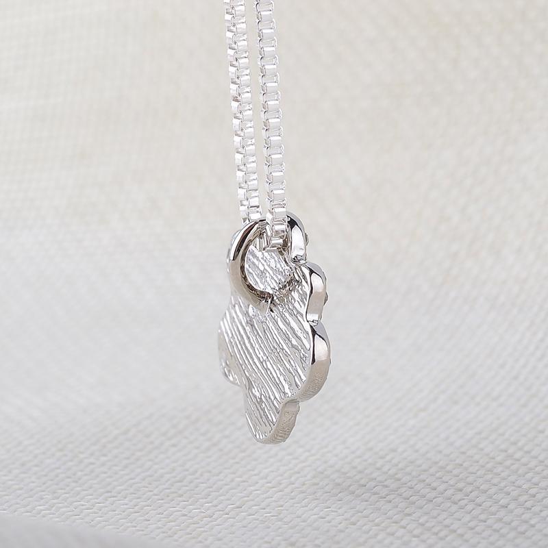 Gato de perrito de plata de la vendimia pet pet Paw Prints Charms colgante para mujeres Rhinestone completo colgantes collares joyería de moda accesorios hechos a mano