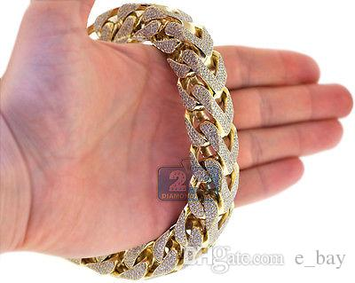 2019 Mens Diamond Franco Link Bracelet Solid 10k Yellow