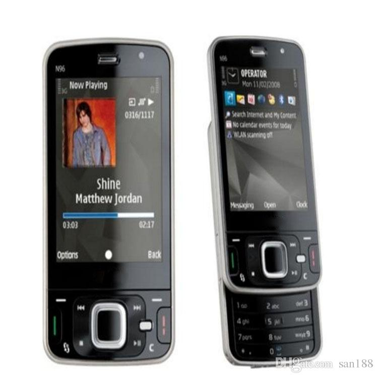 5MP Slider unlocked phone Camera sim card by 2.8 inch N96 smart phone cell phone with 3G nework WIFI GPS Bluetooth
