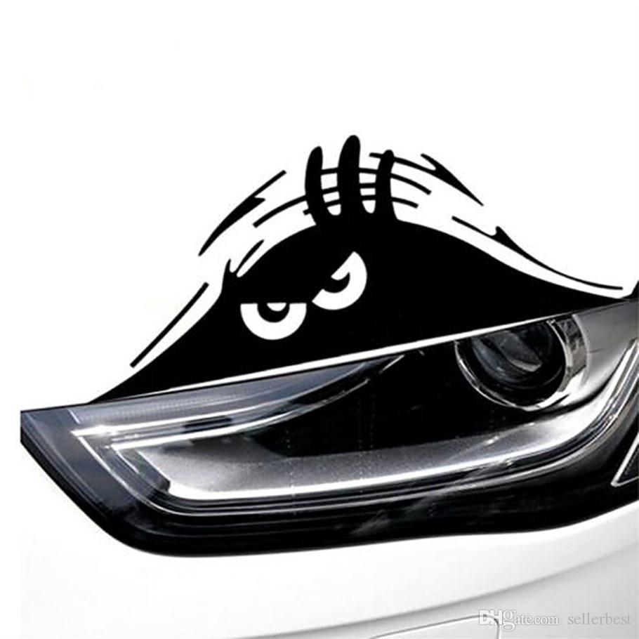 Светоотражающие водонепроницаемый мода забавный выглядывал монстр автомобиля стикер винила украшения наклейки стайлинга автомобилей горячая продажа