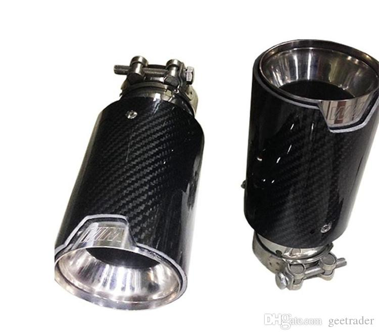 2.5'' in - 3.5'' out M3 M5 M6 To M-P Exhaust Tailpipe Car Carbon Fiber Exhaust End Tips for BMW