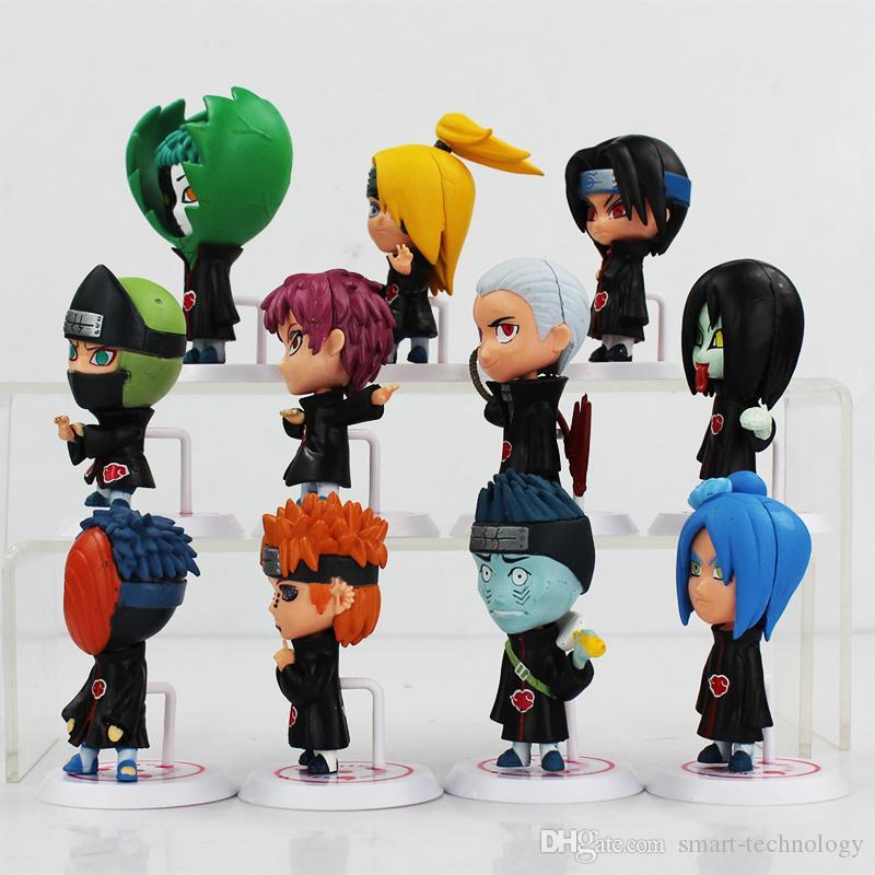 Japanische Anime Naruto Akatsuki PVC Figure sammelbare Modell Spielzeug Puppe 6.5cm / set Geschenke für Geburtstag-Weihnachtsgeschenk-freies Verschiffen