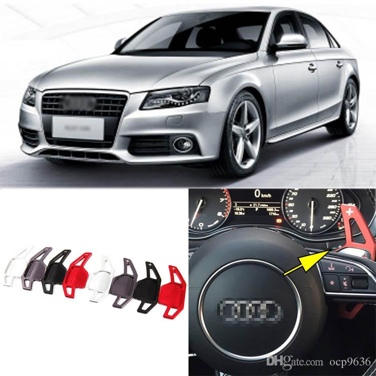 Brand New High Quality Alloy Add-On Steering Wheel DSG Paddle Shifters Extension For Audi A4L
