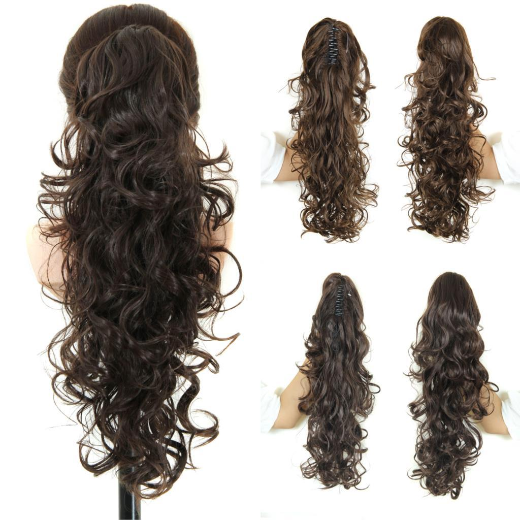 Curly Ponytail Hairpieces 20 Long Fake Ponytails Claw Drawstring