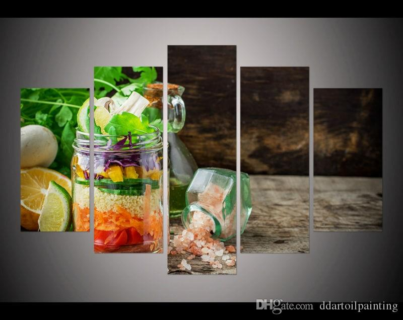 New 2017 Christmas present Modern still life canvas pictures for kitchen decor dining room print wall art painting on canvas art