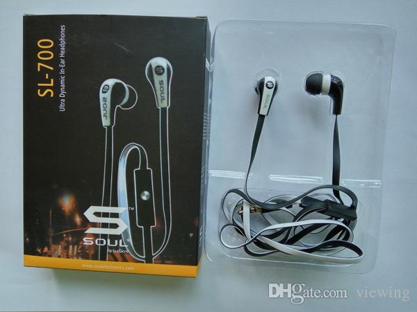 Newest Mini Soul SL700 Soul By Ludacris Ear Earphone Headset Headphone With Mic For Apple Ipod Iphone Android phone with retail package