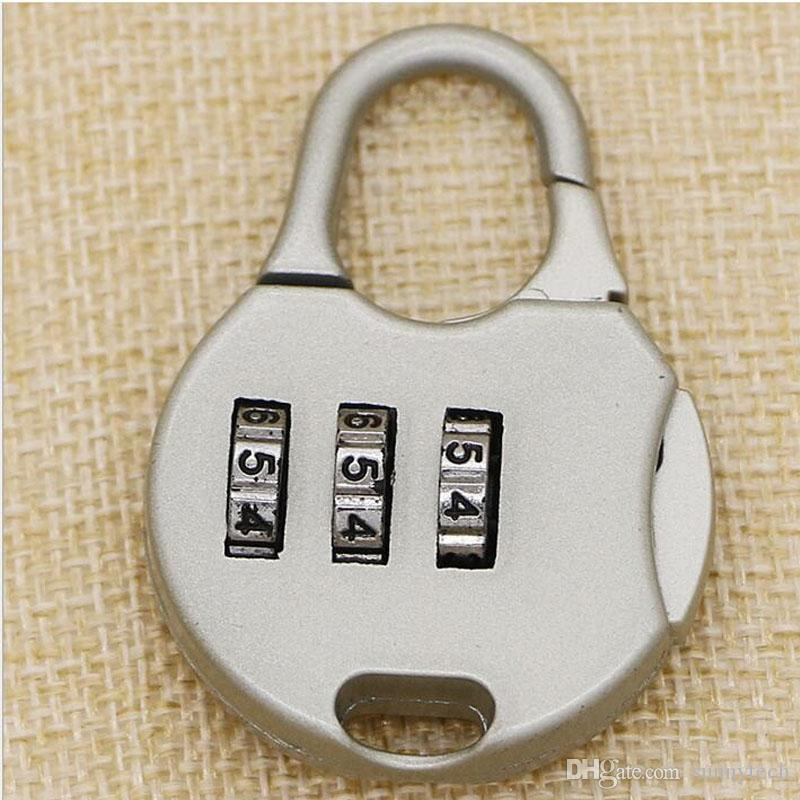 Hot 3 Dígitos De Combinação De Discagem Número Código de Bloqueio Cadeado Para Bagagem Saco Com Zíper Mochila Bolsa Mala Gaveta ZA1350