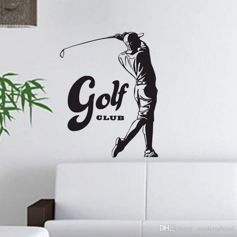 Golf Wall Decor golf wall stickers decorative vinyl wall decals sports game