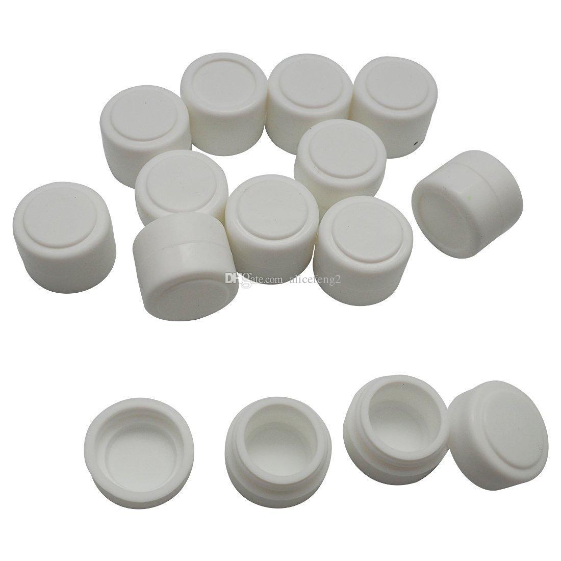 200 x Non-stick Silicone Recipiente Para Cera Bho Óleo Butano Vaporizador Silicon Jars Dab Wax Container OD 22 * ID 16 * T17 MM