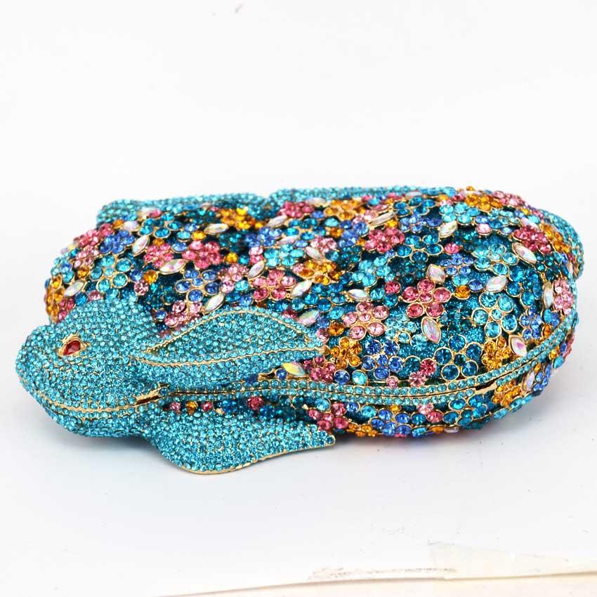 Lovely rabbit shape party bags ladies animal Clutch bags Luxury crystal pochette wedding bags women evening handbags SC046
