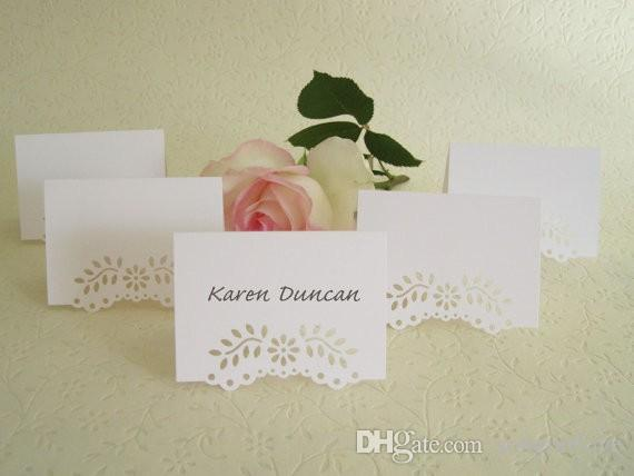 Blank Wedding Place Cards