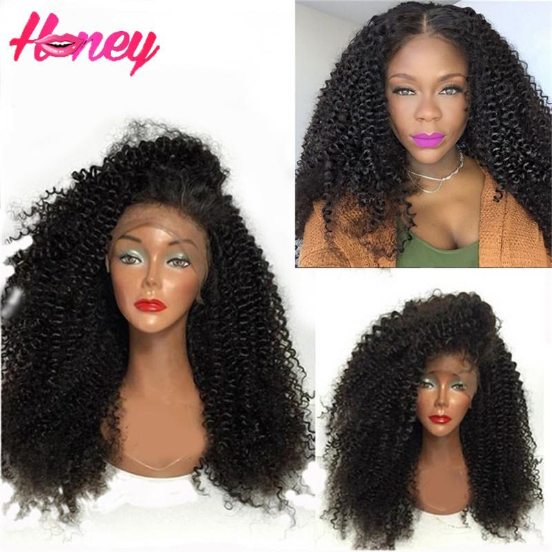 Brazilian afro kinky curly wig virgin hair glueless lace front wig kinky curly full lace human hair wigs for black women natural