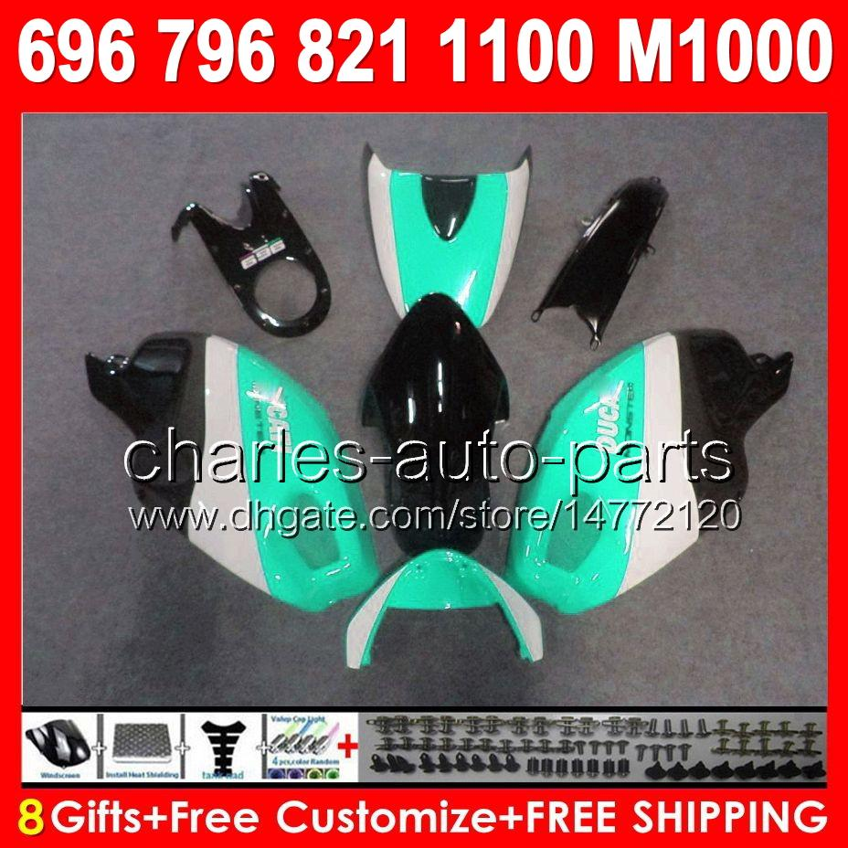 gloss cyan 8gifts for ducati 659 696 795 796 797 08 09 10 11 12