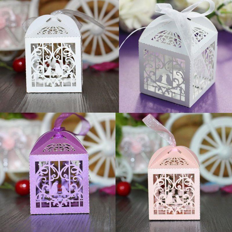 555cm Hollow Laser Cut Wedding Sweets Love Bird Wedding Favor