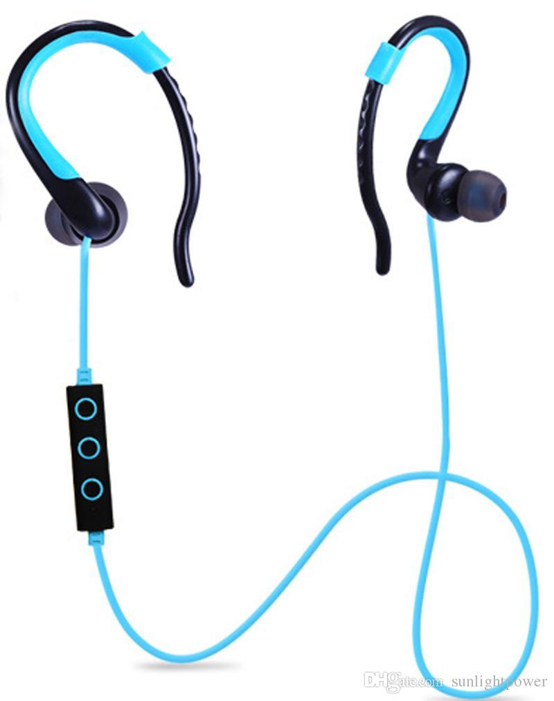100% plus récent sans fil bluetooth 4.1 écouteur prise en charge de la voix contrôle sport course casque avec microphone pour iphone samsung
