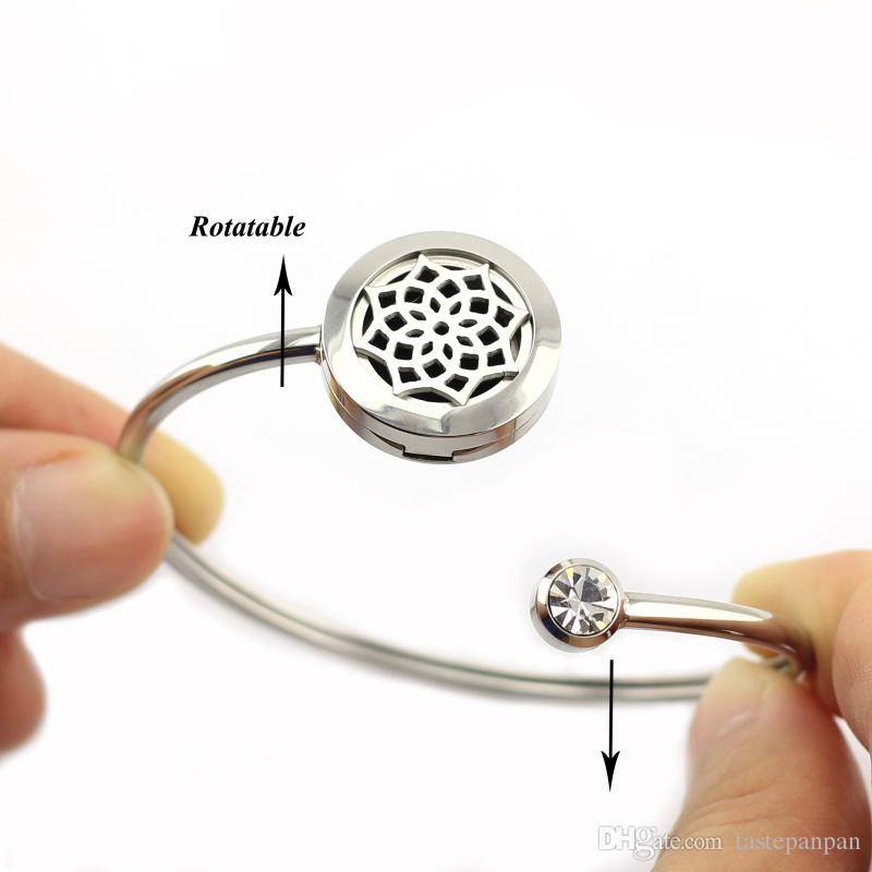Новое поступление 20 мм духи медальон браслет эфирное масло диффузор браслет из нержавеющей стали 316l ароматерапия медальон браслет Браслет