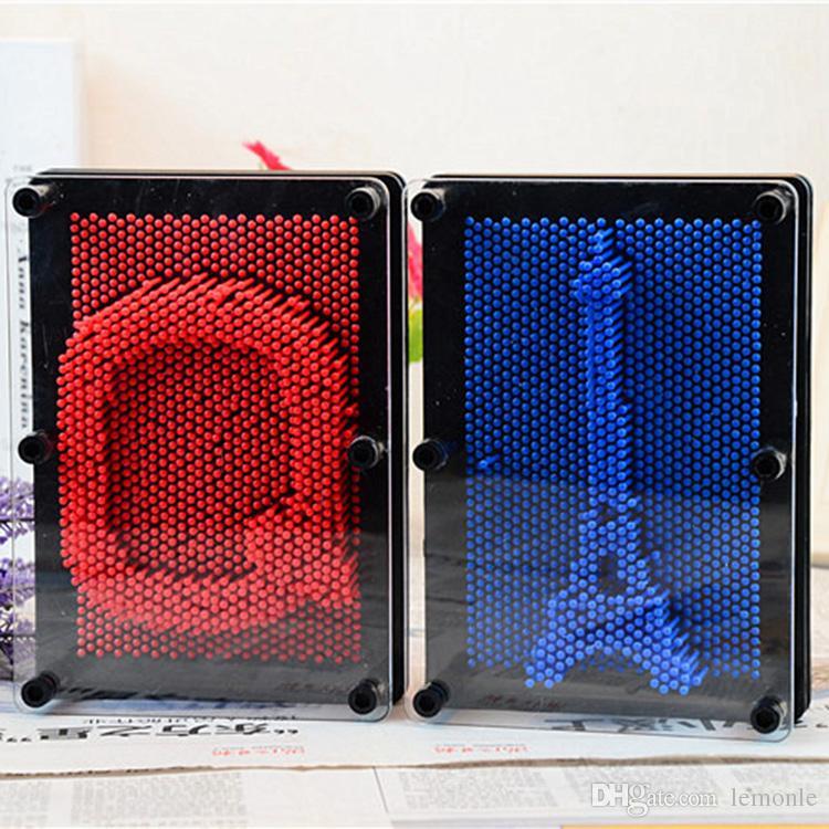 Giocattolo di plastica divertente gioco Pinart 3D clone forma pin art varietà ago colorato bambino ottenere faccia giocattolo modello di palma
