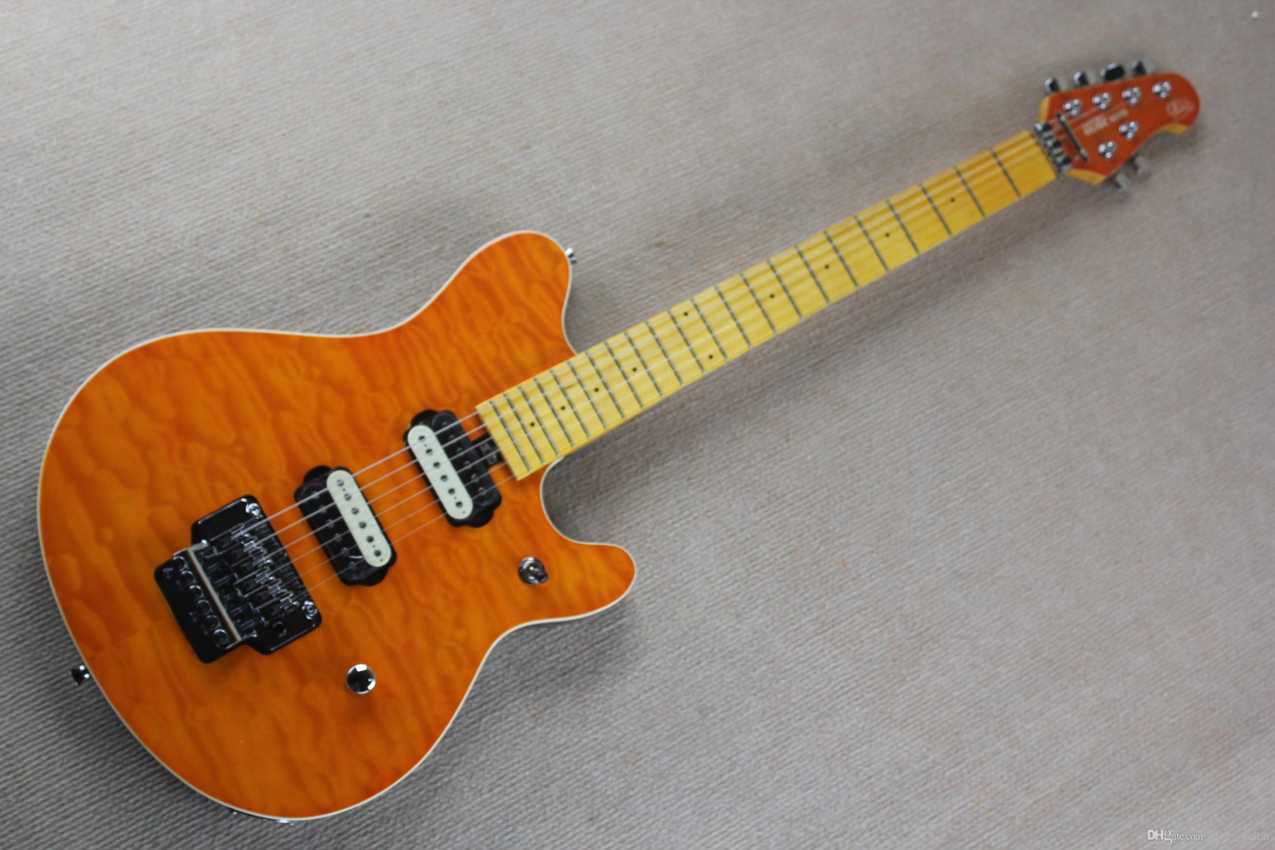 Edward Van Halen Wolf Music Man Ernie Ball Axis Orange Flame Maple ...