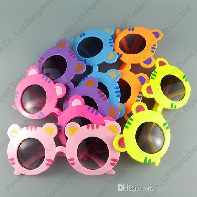 Zoológico Animal Forma Gafas Tiger Niños Gafas de sol Lindo y encantador Bebé Gafas de sol UV400 es