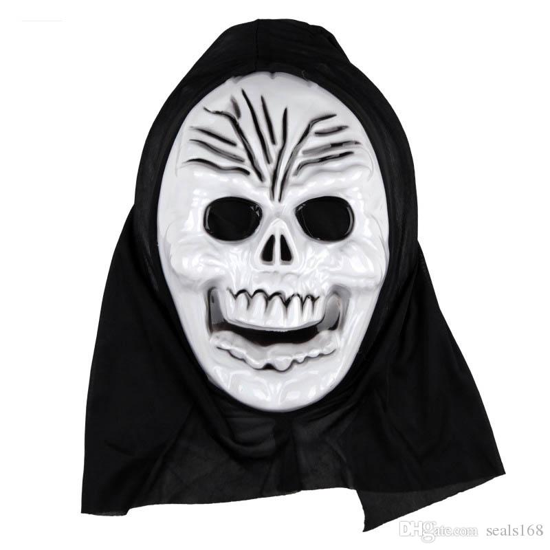 Cadılar bayramı Maskesi Korkunç Hayalet Maske Çığlık Kostüm Partisi Ürpertici Kafatası Korkunç Hayaletler Maskeleri Cosplay Kostümleri Prop Maskesi HH7-84