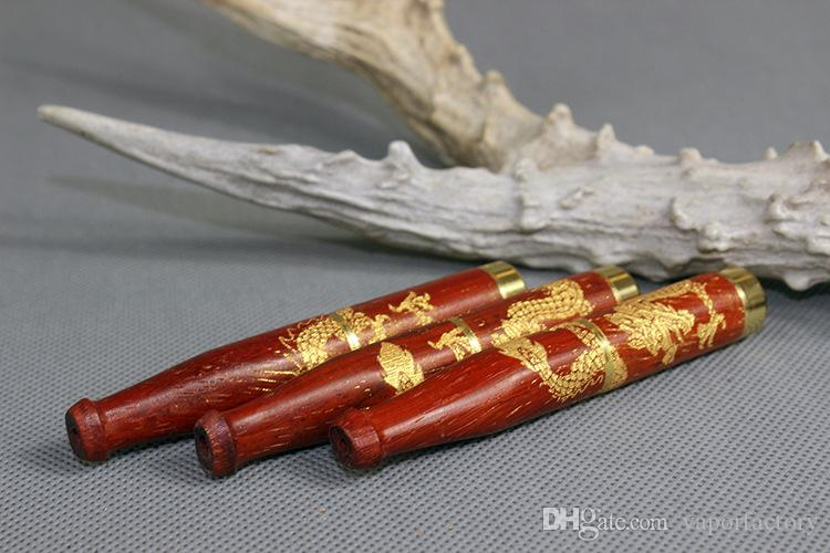 USA China carved solid wood filter mouth tip carving cigarette holder filter Chinese Dragon tobacco smoking pipe mouthpiece