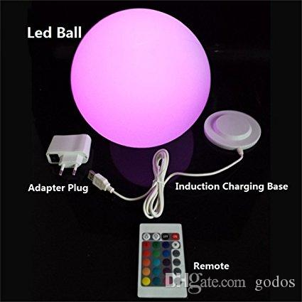Best 14 Led Light Up Waterproof Cordless Sphere Lamp Light Up ...