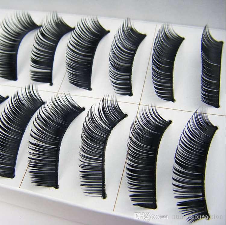 10 Box Women Fashion Handmade Thick Long False Eyelashes Mink Eyelash Natural Eyes Lashes Makeup With Retail Pack