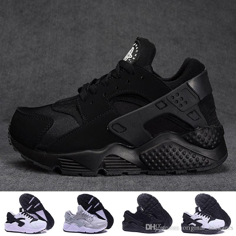 1ab57bc54a0eb 2017 New Air Huarache Ultra Classical Triple White And Black Red Huaraches  Shoes Men Women Sports Shoes Sneakers Running Shoes Size 36 45 Men Shoes  Online ...