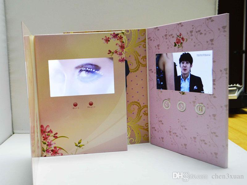 Sample Order Digital Lcd Video Brochure Greeting Card For Wedding