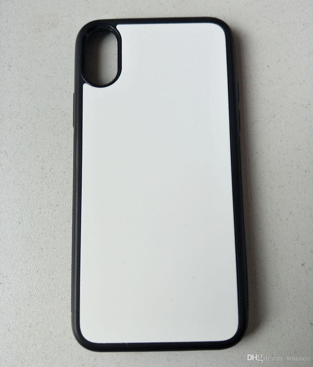 Coque Sublimation presse à chaud pour iPhone X 5 5s 6 7 8 plus Coque TPU en caoutchouc + plaque en aluminium 10 pièces /