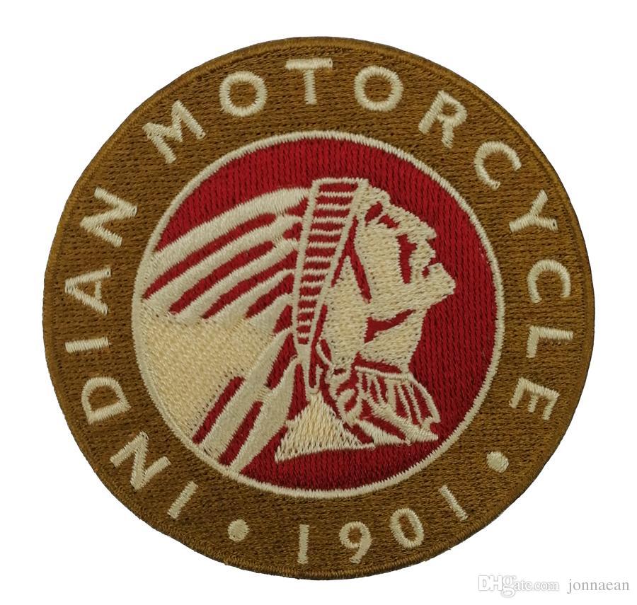 1901 MOTO INDIEN Rocker Brodé Fer Sur Patch Moto Biker Club MC Veste Avant Punk Gilet Patch Brodé Détaillé