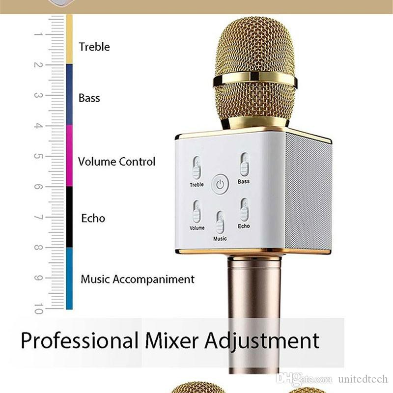 Высокое качество портативный беспроводной Караоке микрофон стерео Bluetooth динамик приемник плеер KTV петь поддержка IPhone Samsung IOS Android
