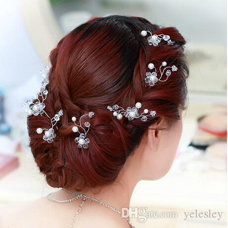 hair accessories Princess bridal headdress Wedding Flower Hair Jewelry Exquisite Hair Pins Clips Wedding Headdress Jewelry Accessories