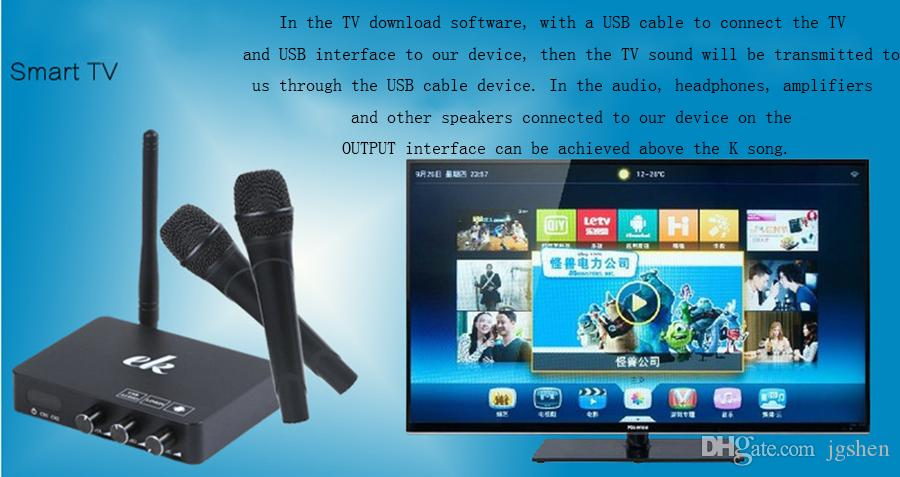 2017 best Karaoke smart k song multimedia system k2k echo mixer can be connected to set-top box smart TV mobile phone pc ipad