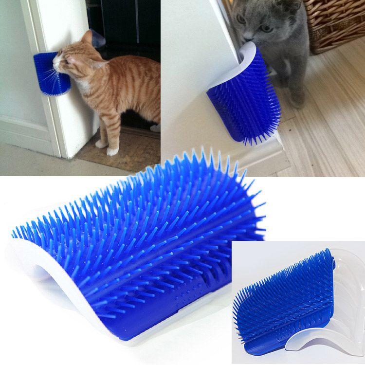Mais novo Gato de Gatos Auto Groomer Grooming Ferramenta Escova de Remoção de Pente Pente para Cães Gatos Derramamento de Cabelo Aparar o Dispositivo de Massagem do Gato com catnip WX9-53