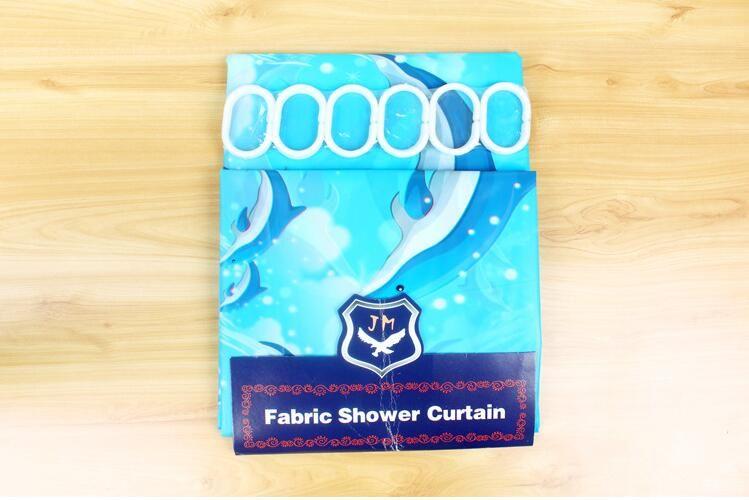 Impressão mais simples à prova d 'água mouldproof banheiro cortina de chuveiro do hotel cortina de chuveiro do banheiro 180 * 180 cm frete grátis HK70