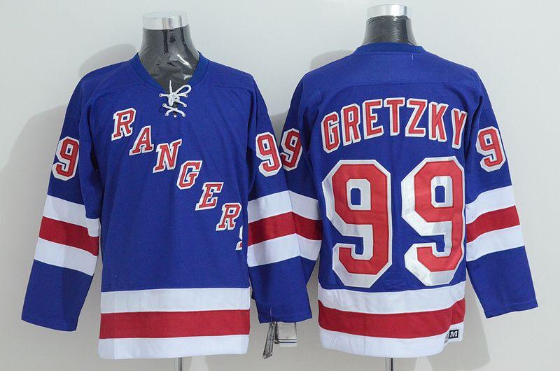 Retro New York Rangers Jersey Cheap 99 Wayne Gretzky Vintage CCM Authentic  Stitched Ice Hockey Jersey ! From Qqq8 f85c0426b2b