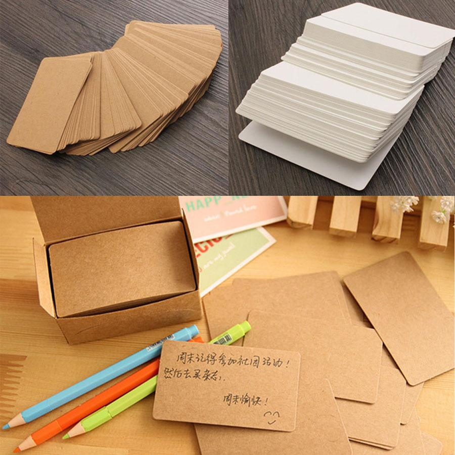 2018 100 Sheetsdiy Kraft Paper Message Word Card Double Blank