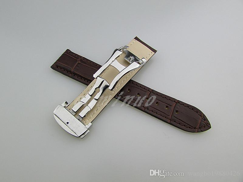 20mm veya 22mm Yeni Yüksek kalite Siyah Ve Kahverengi Hakiki Deri Watch Bands Omega Izle Için kayış
